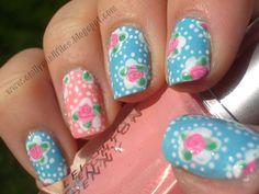 cath kidston nails! love them. #cathkidston #nails