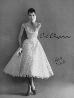 a fabulous dress by Ceil Chapman made from Ametex brand lace #EasyNip