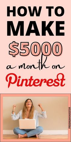Learn how to make money on Pinterest with or without a blog. Make $5000 passive income every month with Pinterest while working from home. #makemoneyonpinterest #workfromhome Earn Money From Home, Make Money Fast, Make Money Online, Online Business Opportunities, Creating A Blog, Online Jobs, Affiliate Marketing, Passive Income, Blogging
