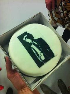 #Sherlock cake made by me for and given to mr.Cumberbatch at Cheltenham Literature Festival 2012
