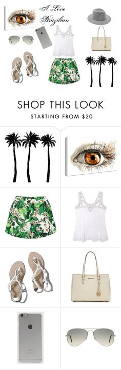 """Verão Brasil!!!"" by carolstos on Polyvore featuring Dot & Bo, Olive + Oak, Abercrombie & Fitch, MICHAEL Michael Kors, Incase and Ray-Ban"