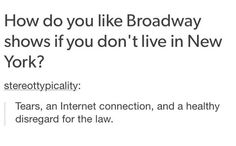Thanks bootlegs (tho if Broadway got on top of professionally filming their musicals I would 100% pay for that shit but no so I'm reduced to bootlegs)