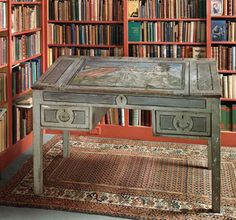 Virginia Woolf's writing desk, painted by her nephew Quentin Bell.