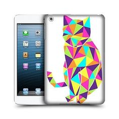 HEAD CASE NEON CAT GEOMETRIC DESIGN SNAP-ON BACK CASE COVER FOR APPLE iPAD MINI