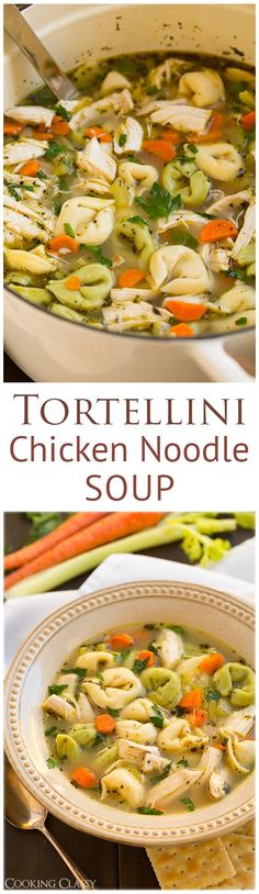 Tortellini Chicken Noodle Soup - this is so easy to make and seriously delicious! A simple 30 minute meal that you will LOVE! delicious Recipe!