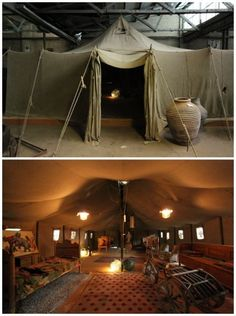 This is a picture of Australian artist David Bromley's tent in his studio.