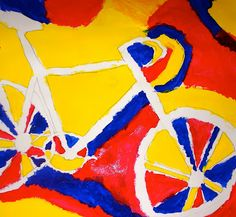 Exploring Art: Elementary Art: 5th Grade Positive and Negative Space Bikes