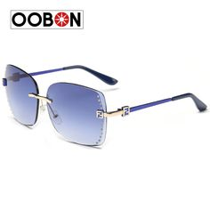 Oobon Direct Selling Adult New 2017 High Quality Sea Piece Color More And Women Fashion Sunglasses Frameless Retro Sun Glasses