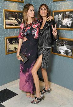 Sofia Sanchez de Betak and Alexa Chung attend Miu Miu Cruise Collection show as part of Haute Couture Paris Fashion Week on July 2 2017 in Paris...