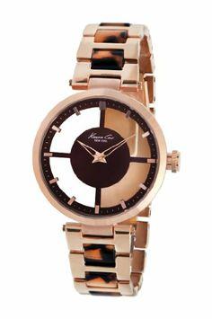 Kenneth Cole New York Women's Transparent Dial Watch - http://fashion.designerjewelrygalleria.com/watches/kenneth-cole-new-york-womens-transparent-dial-watch/