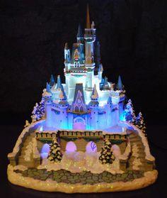 Disney Village Winter Cinderella Castle Figurine Lights