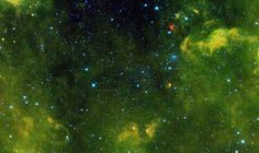 The six red dots in this composite picture indicate the location of the first new near-Earth asteroid, called 2013 YP139, as seen by NASA's NEOWISE.
