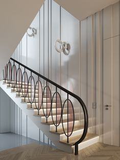 67 Super Ideas For Interior Stairs Design Stairways Glass Stairs Design, Staircase Design Modern, Staircase Railing Design, Interior Stair Railing, Stair Handrail, Modern Stairs, Railing Ideas, Modern Railing, Interior Balcony