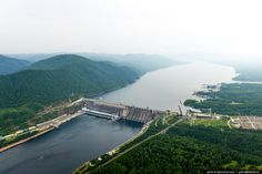Krasnoyarsk hydro-electric station Electric Station, Russia, Earth, River, Places, Outdoor, Outdoors, Outdoor Games, The Great Outdoors
