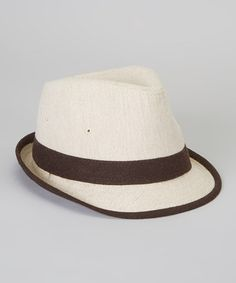 Another great find on #zulily! Beige Fedora #zulilyfinds- for that fashion forward little boy in your life