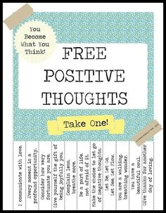 Choose A Positive Thought :)