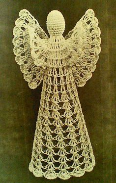 Hey, I found this really awesome Etsy listing at https://www.etsy.com/listing/193720502/five-5-vintage-crocheted-angel-patterns