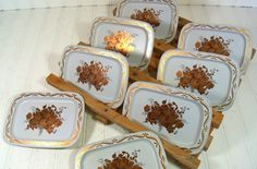 Miniature White Metal Trays  Vintage Gold / Copper by DivineOrders, $12.00