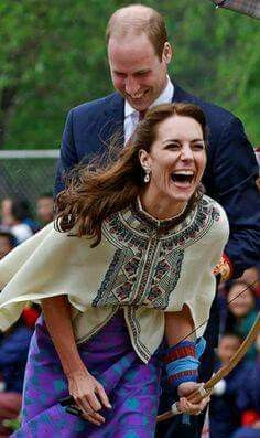 It's obvious Kate has a very good sense of fun, can't help smiling at this