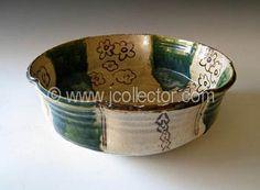 Japanese Oribe Ceramic Bowl