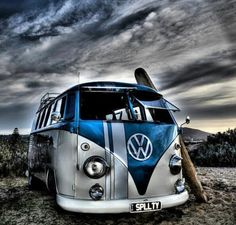 VW Bus. Check out Facebook and Instagram: @metalroadstudio  Very cool!