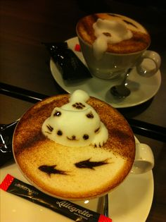 3D coffee latte art, by grace lau