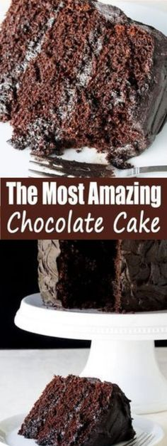 The Most Amazing Chocolate Cake - ou will be amazed at how good it is, and you will amaze those that you make if for. Chocolate Cake Mix Recipes, Chocolate Cake From Scratch, Amazing Chocolate Cake Recipe, Cake Recipes From Scratch, Chocolate Cake Mixes, Matilda Chocolate Cake, Chcolate Cake, Just Desserts, Delicious Desserts