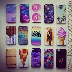 iphone cases. Don't have a phone, but would be so cool to have the Pizza one!