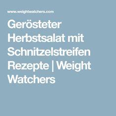 Gerösteter Herbstsalat mit Schnitzelstreifen Rezepte   Weight Watchers