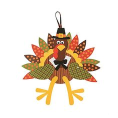 Check this out on our store  Thanksgiving Pilgrim Turkey Craft Kit - Makes 12 Check it out here! [product-url