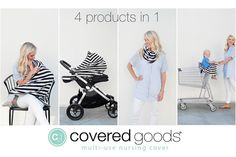 Covered Goods Multi-Use Nursing Cover    With Covered Goods™ you can truly nurse anytime, anywhere!    48% OFF