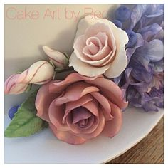 Sugar roses. By Cake Art by Bec.