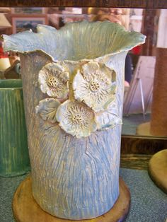 Wonderful Large Handbuilt Pottery Vase  by GOLDENPOSSUMPOTTERY