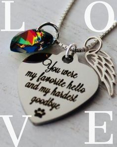 Rainbow bridge pet loss necklace - Pet Loss- Pet Loss Gift - pet memorial - pet loss jewelry - Favorite Hello- Loss of Pet - Pet Sympathy Dog Memorial, Memorial Gifts, Loss Of A Loved One Quotes, Rainbow Bridge Poem, Pet Loss Gifts, Mother Daughter Necklace, Kissing In The Rain, Whisper Confessions, You Are My Favorite