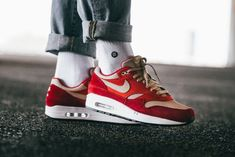 ea107dee3383 Nike Air Max 1 Premium Retro  Red Curry  - Where to buy online