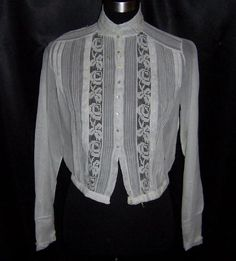 Image detail for -vintage titanic era early 1900s victorian top blouse