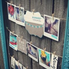 An easy DIY project to display your photos. Perfect for craft room or office.