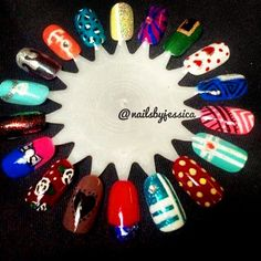 Nail  art wheel Instagram photo by @nailsbyjessica