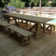 4x4 Picnic Table Plans From Restoration Hardware