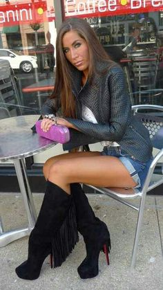 Fringed  Christian  Louboutin Boots