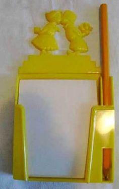 Vintage 1950s LOVE BIRD Kitchen Memo Pad YELLOW HARD PLASTIC | eBay