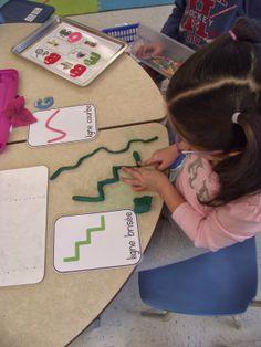 Travailler en graphisme avec la pâte à modeler les différentes types de lignes