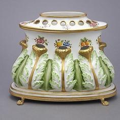 Limoges Gilt Metal Porcelain Mounted Tulip Vase