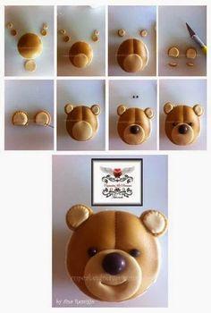 8 Diy Baby Shower Cupcakes 8 DIY Babyparty Cupcakes – DIY Gedanke Here comes child! Fondant Cupcakes, Bolo Fondant, Fondant Toppers, Cupcake Toppers, Cupcake Cupcake, Cupcake Tutorial, Fondant Tutorial, Teddy Bear Cupcakes, Fondant Animals
