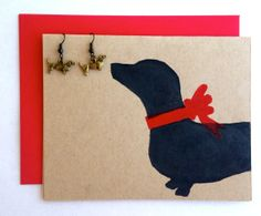 Percentage to Animal Rescue Dachshund Earrings by bestinshore, $16.00. Eco-friendly Doxie Card as an optional ad-on:)