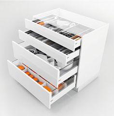 Base cabinet for kitchen utensils