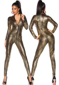 d86c8413e85c Check Discount Sexy Black Wet Look Snake Jumpsuit PVC Latex Catsuit  Nightclub DS Costumes Women Bodysuits Fetish Patent Leather Game Uniforms