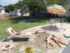 Laying Out, 2015 © Julie Blackmon / Fahey/Klein Gallery