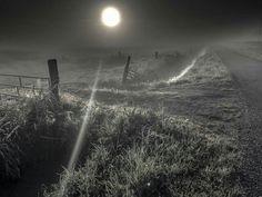 Polder at night