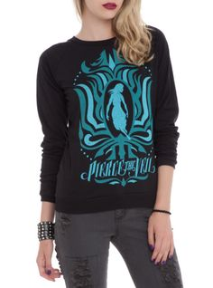Crewneck pullover top from Pierce The Veil with a large blue girl design on front. I WANT ITTTTTTT